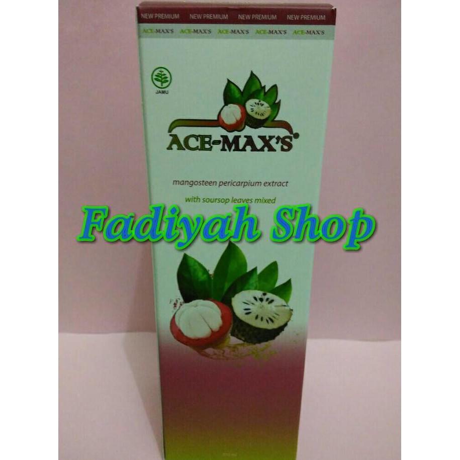 Ace Max Maxs 100percent Ori Ekstra Kulit Manggis Spec Graviola 100 Concentrate Daun Sirsak Acemaxs Shopee