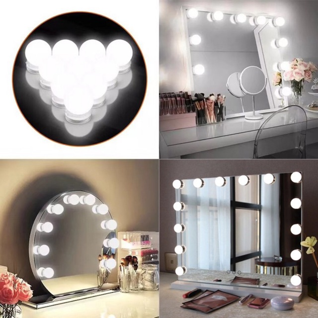 Vanity Mirror Light USB Lampu Kaca Make Up Mirror Lampu ...