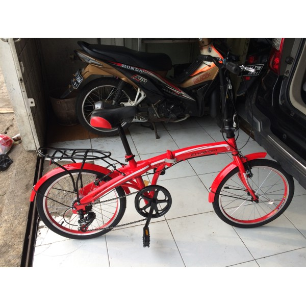 Sepeda Lipat 20 inc Evergreen 120-8 Vbrake | Shopee Indonesia