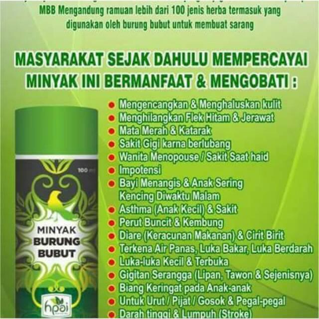 Minyak Herba Sinergi Mhs Hni Hpai Minyak Burung Bubut Solusi Herbal Mbb Shopee Indonesia