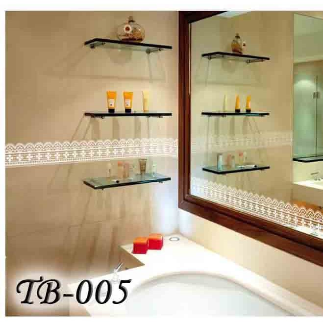 HOT PROMO TB004 CLASSIC RENDA WALL BORDER STICKER KACA & DINDING 10M TRANSPARAN | Shopee Indonesia