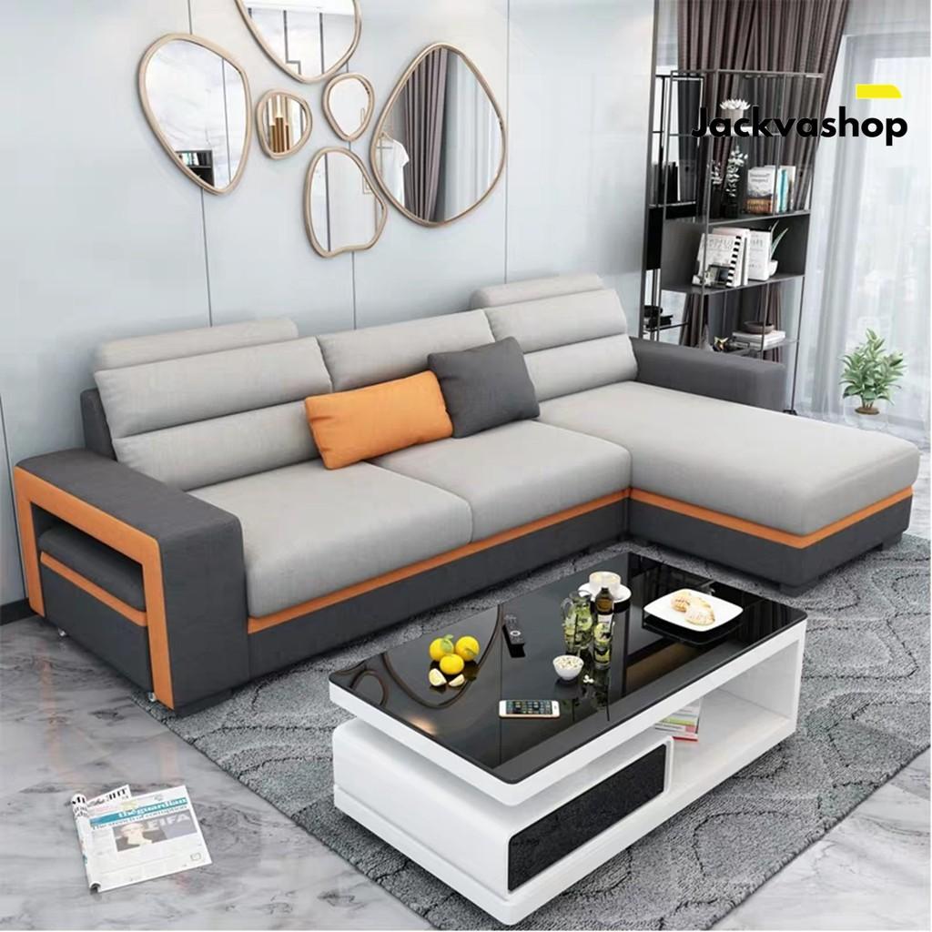 Sofa Minimalis Sofa Tamu L Sudut Kursi Ruang Tamu Minimalis Sofa Santai Shopee Indonesia Sofa santai untuk ruang keluarga