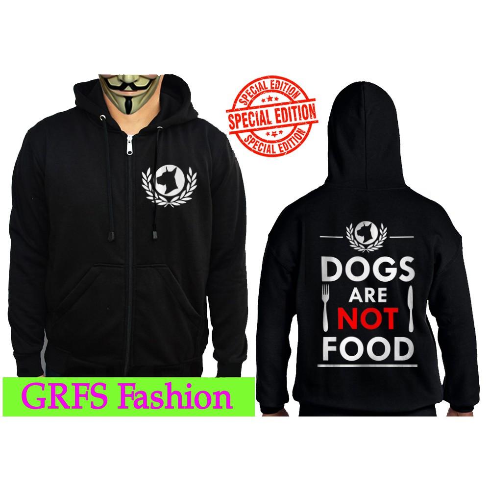 Jaket Zipper Dog Are Not Food