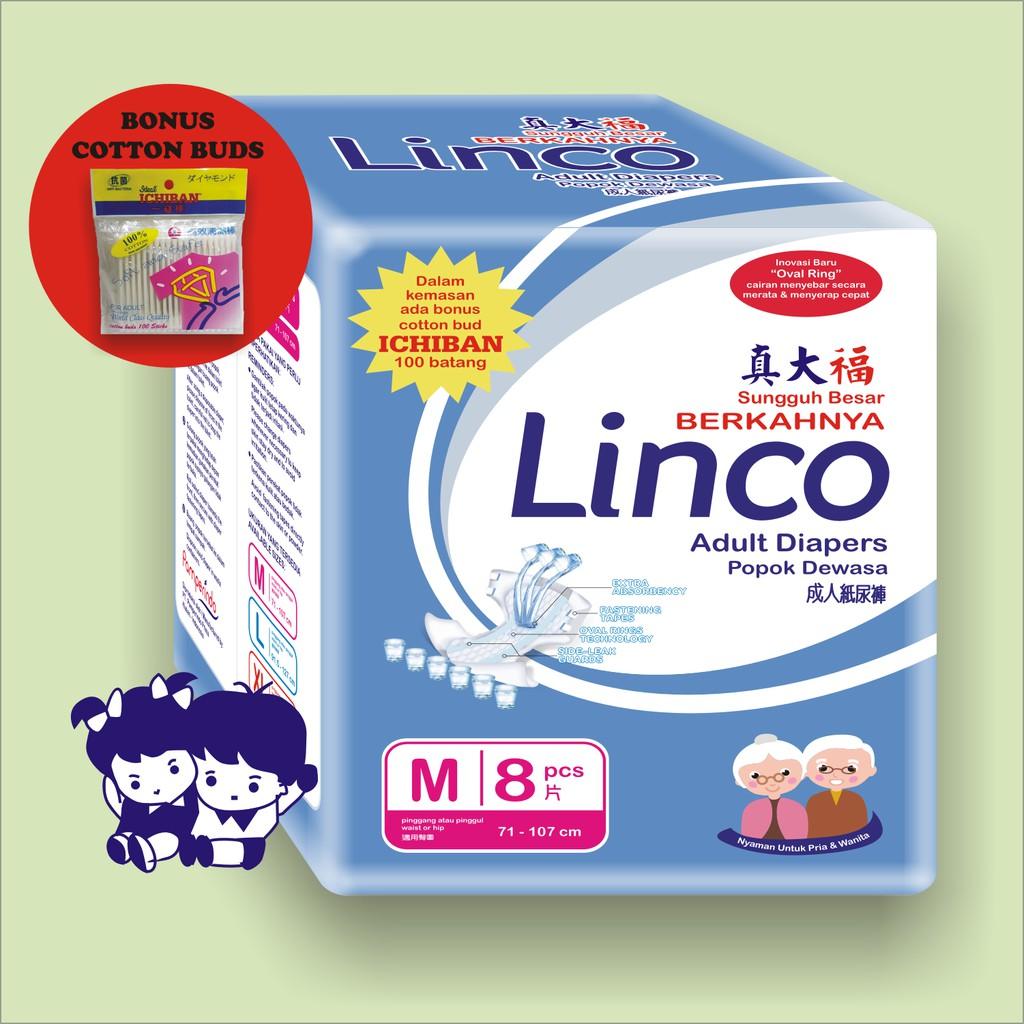 Linco Diapers Adult M L Xl Shopee Indonesia Bp 6xl Diaper Popok Dewasa Ukuran Isi 6pcs