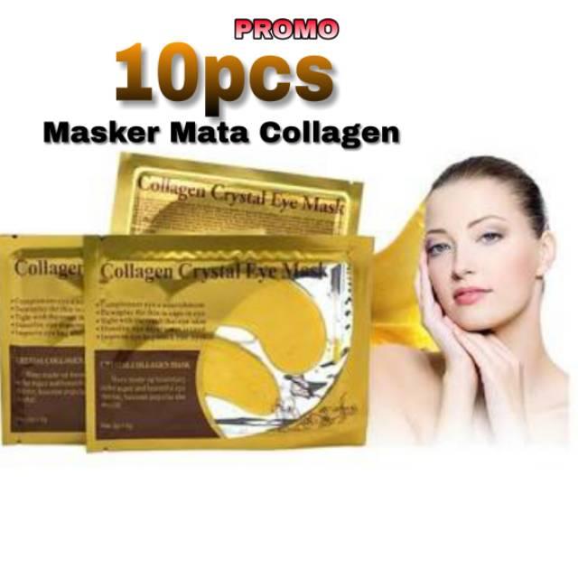 (PER LUSIN( MASKER MATA COLLAGEN / COLLAGEN CRYSTAL GOLD EYE MASK / MASKER MATA EMAS KOLAGEN | Shopee Indonesia