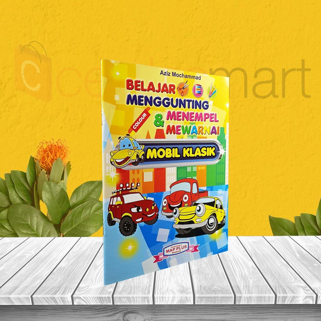 Buku Anak Tk Paud Menggunting Menempel Mewarnai Mobil Klasik Shopee Indonesia
