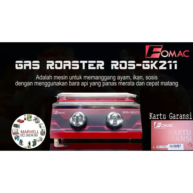 PROMO Gas Roaster FOMAC ROSGK211 Kompor Pemanggang Tanpa Asap 2 Tungku | Shopee Indonesia