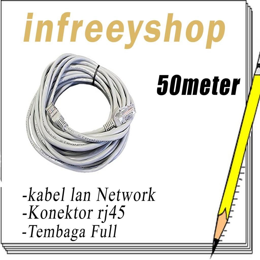 Kabel Lan 40m Cat 5e Utp 40 Meter Pabrikan Shopee Indonesia Vascolink Plugboot Rj45 Isi 50pcs