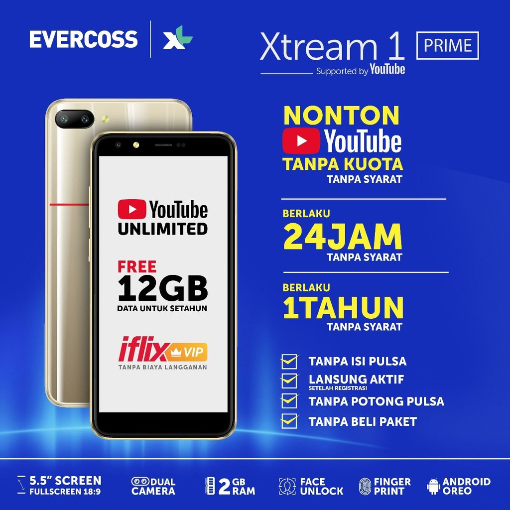Evercoss R50a Winner Y2 Plus 2gb 16gb Garansi Resmi Shopee Ram Rom Indonesia