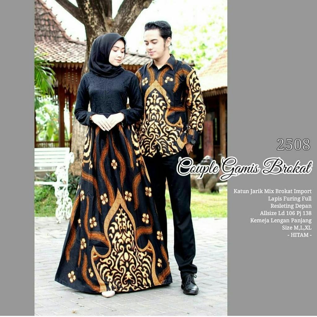 Batik Couple Sarimbit Gamis Batik Brokat Baju Batik Couple Baju Pesta  Seragam Batik Gamis Modern