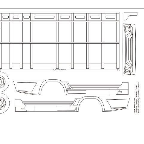 ♛Flash Sale♛ Pola miniatur truk Isuzu Giga NMR71 ,.,,,.!!!!!