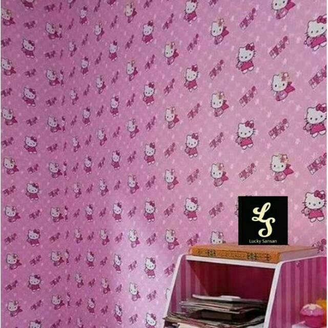 Wallpaper Sticker Panjang 10 Meter Hello Kitty Perih