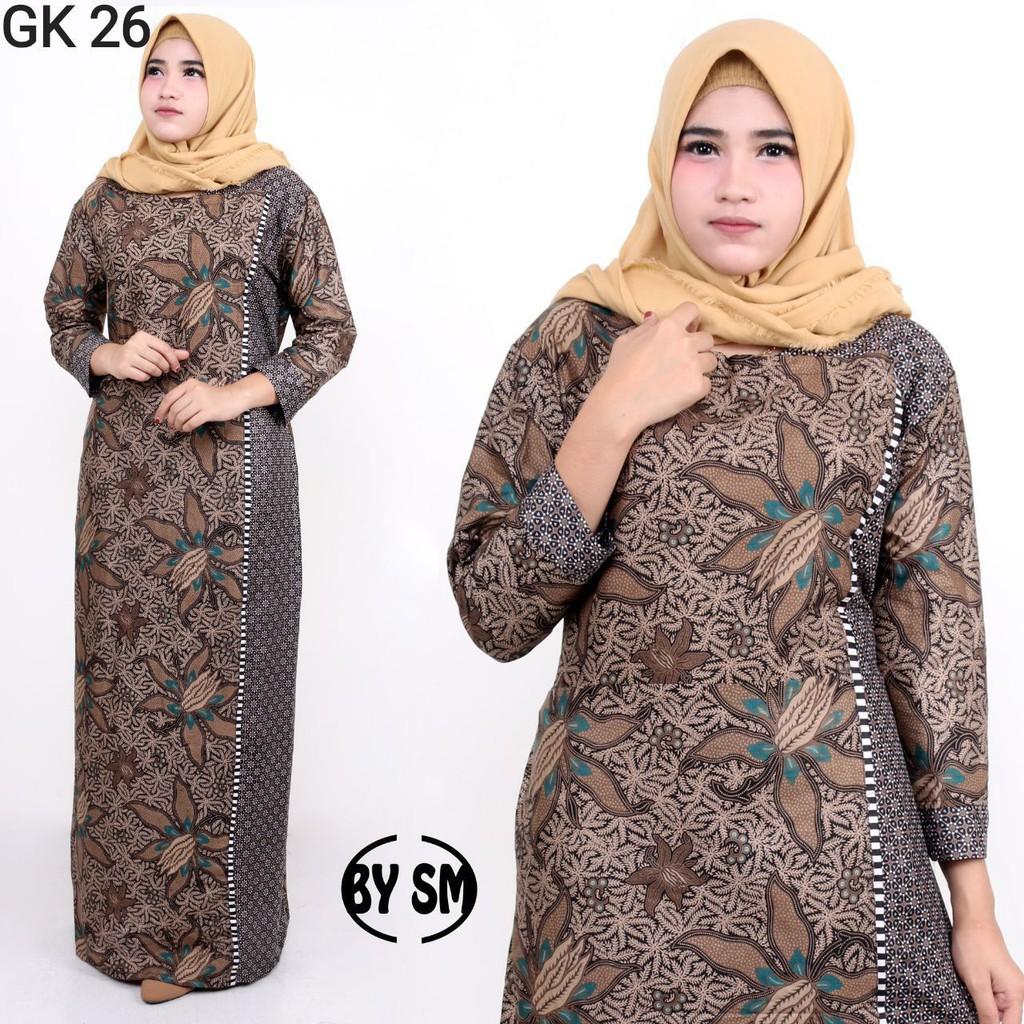 Baju Gamis Batik Wanita Terbaru 9 Busana Muslim Murah Zamzam Garansi  Termurah Di Shopee
