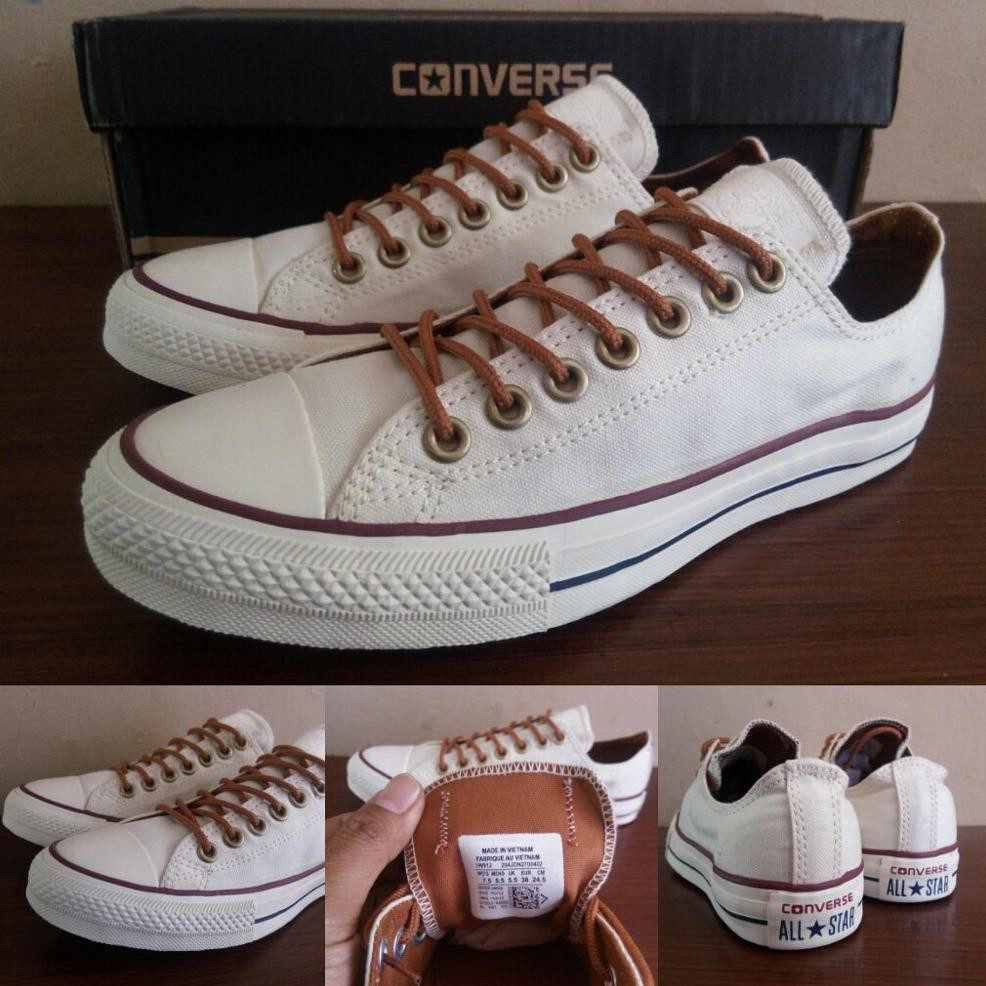 Sepatu Converse Ct Chuck Taylor All Star Classic Peached Ox Off Full All  White Putih Cream  c9e17314f8