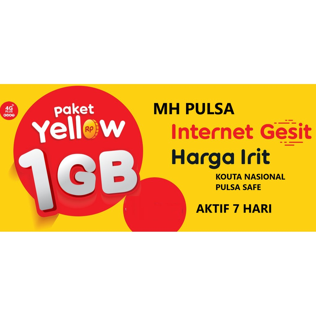 Vcr Indosat Yellow 1gb 7 Hari 1gb Kuota Nasional Shopee Indonesia