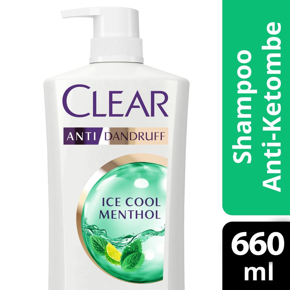 Buy Clear Shampoo Ice Cool Menthol 660 Ml Free Clear Men Cool Sport Menthol 160ml-1