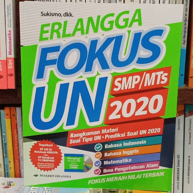Erlangga Fokus Un Smp Mts 2020 Shopee Indonesia