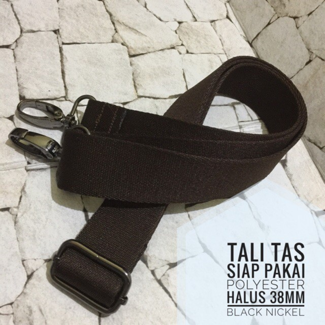 Tali Tas Siap Pakai Webbing Polyester 25mm Halus Aksesoris NIKEL   Shopee Indonesia