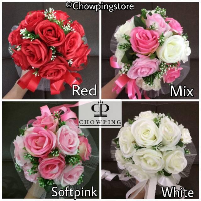 Buket Bunga Pengantin Bouquet Flower Bridal Shower Shopee Indonesia