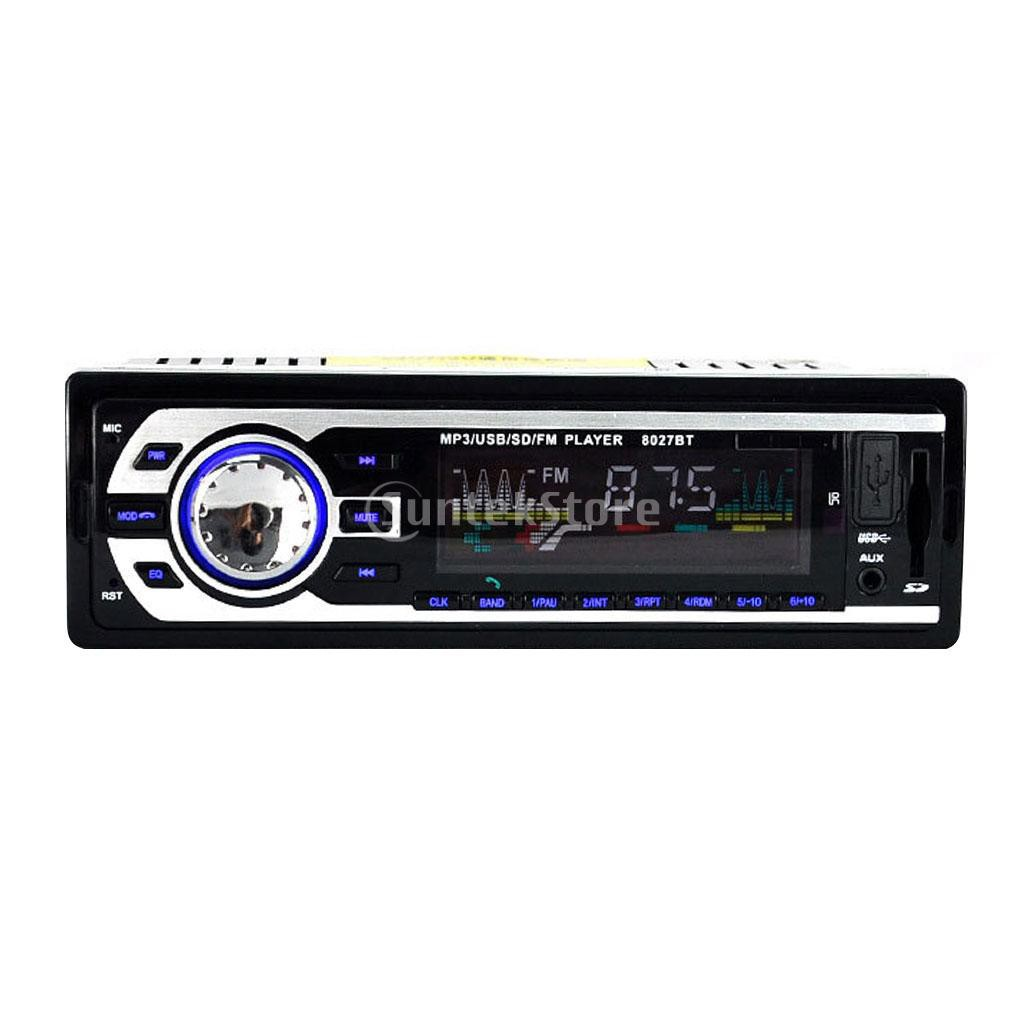 8027bt Bluetooth Audio Stereo FM / USB / SD / MP3 Player 1Din 12V | Shopee Indonesia