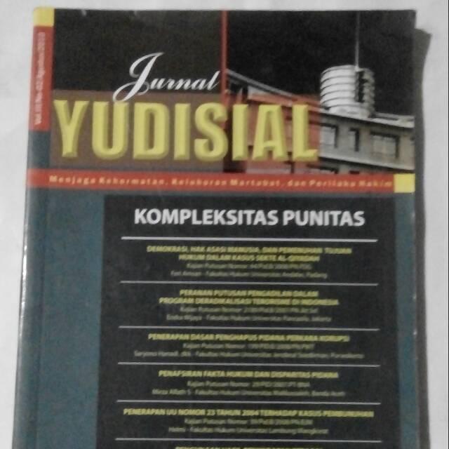 Original Bekas Jurnal Yudisial Vol Iii No 2 Agustus 2010 Shopee Indonesia