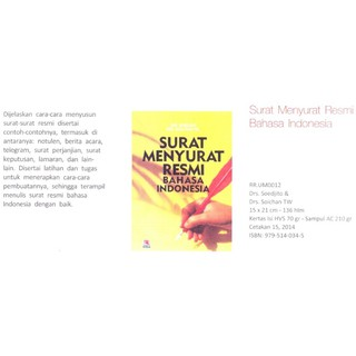 Rosda Surat Menyurat Resmi Bahasa Indonesia