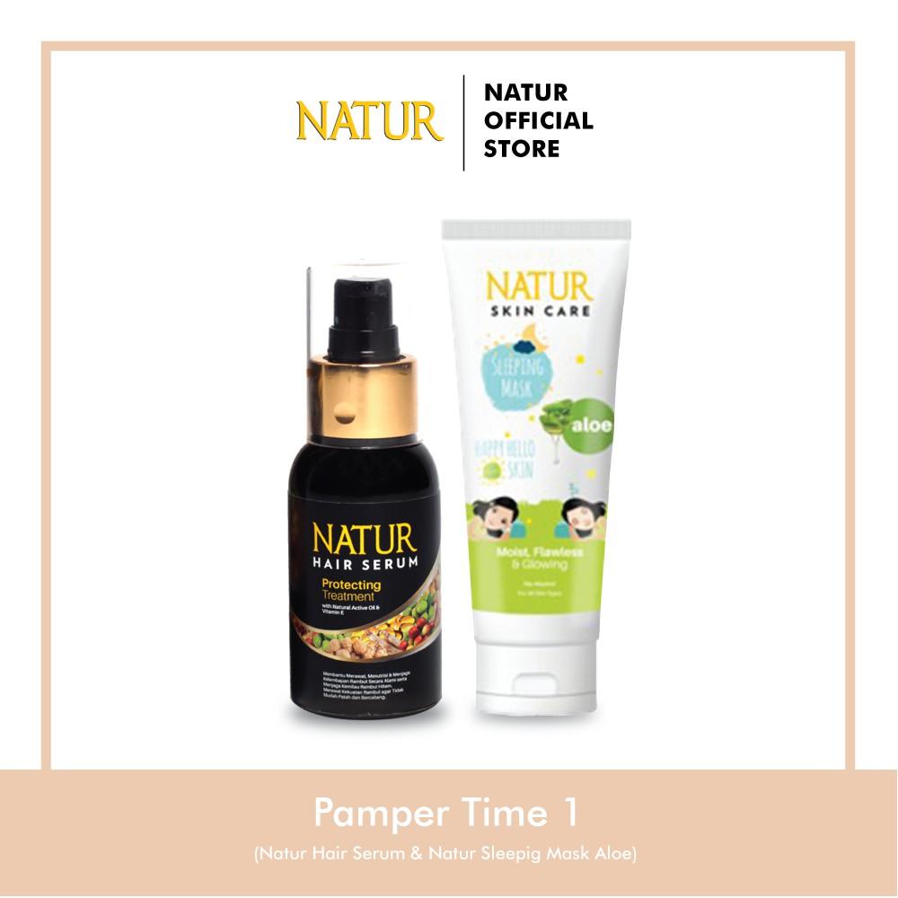 Natur Hair Serum Natur Sleeping Mask Aloe Vera