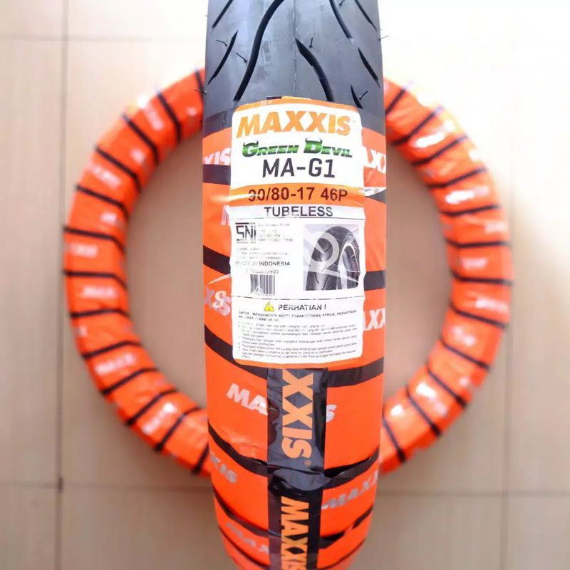 Ban Tubeless Maxxis 90/80-17 Green Devil MA-G1 Soft Dual Compound