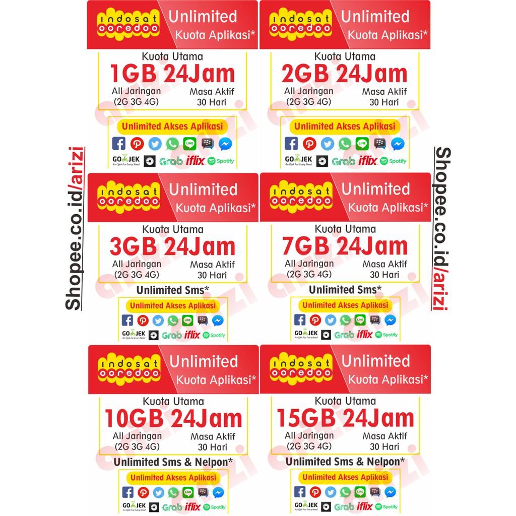 Injcet Data Isi Ulang Kuota Indosat 1gb Mini 2gb Shopee Voucher 2 Gb Indonesia