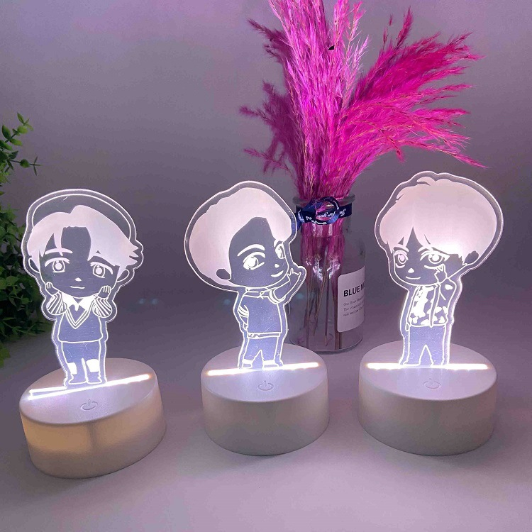 Bahan Gambar Lampu Animasi Lampu Meja Bentuk Kartun Kpop Bts Lucu Bahan Akrilik Warna Warni Untuk Hadiah Shopee Indonesia