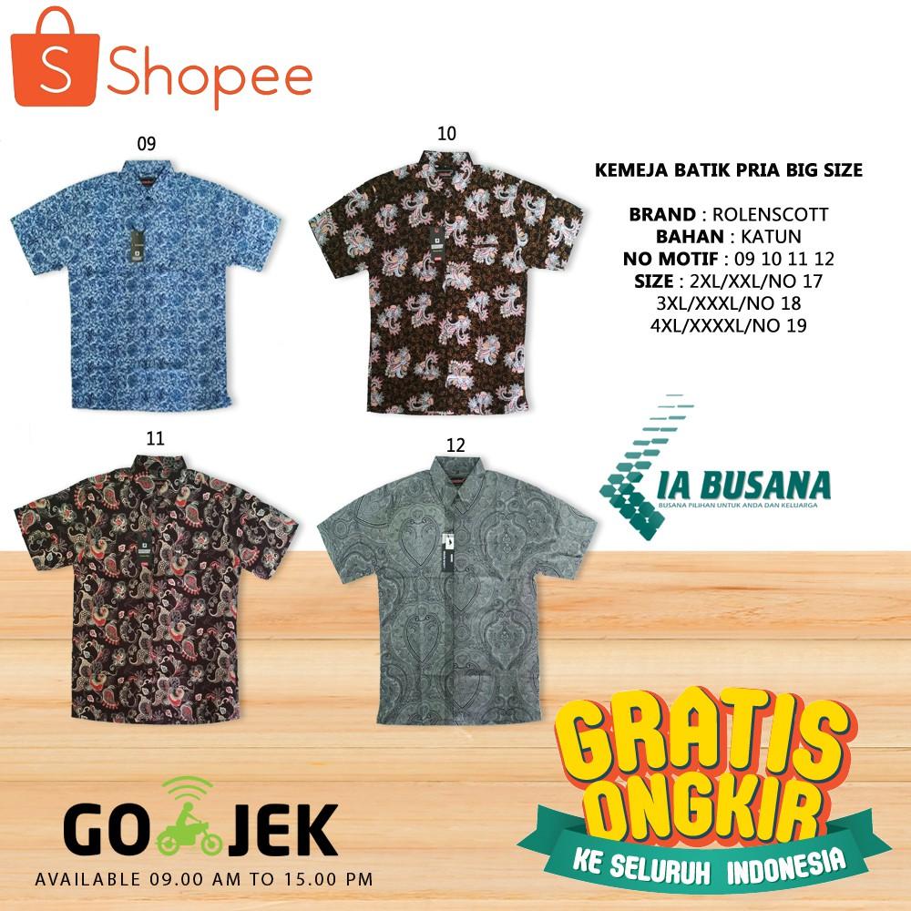 Kemeja Batik Pria Big Size   Atasan Batik Cowok Ukuran Besar   Baju Batik  Pria Ukuran Jumbo  5ba792ea7c