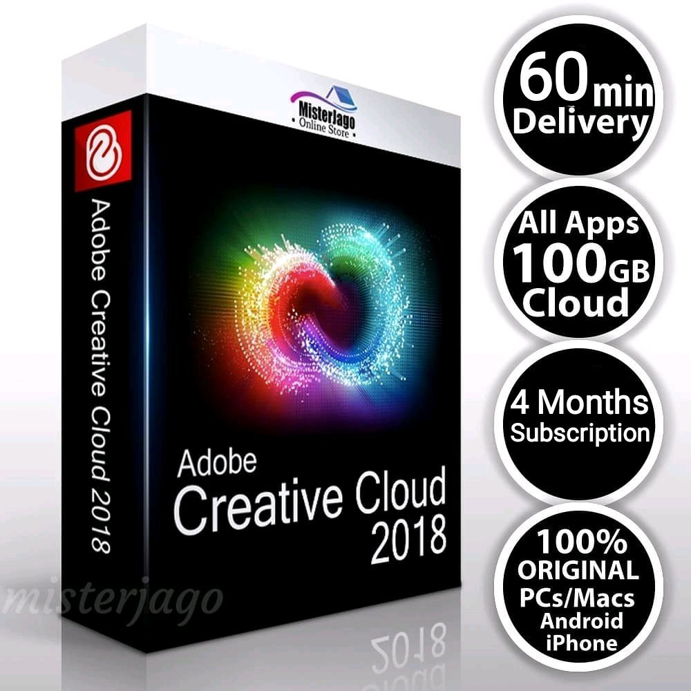 adobe creative cloud 2018 all apps 4 bulan