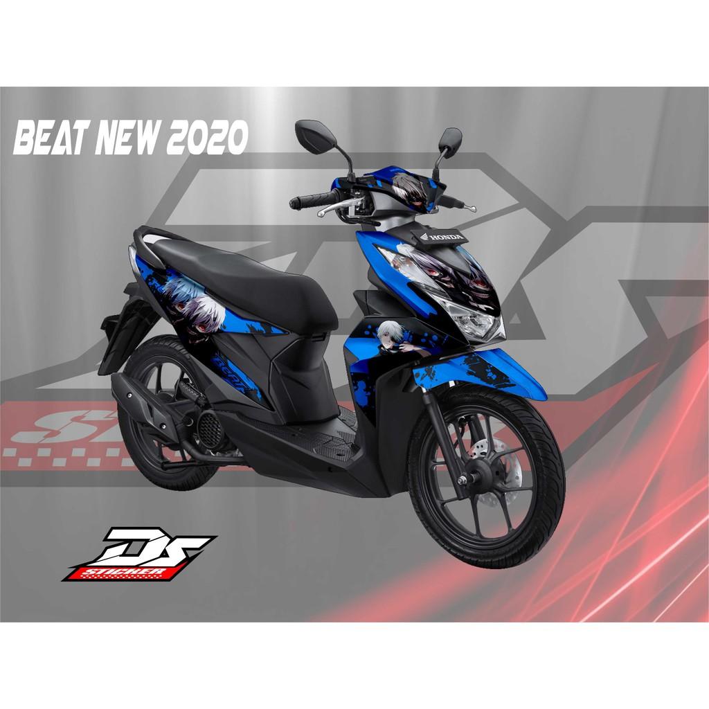 Decal Stiker Beat New 2020 Anime Biru Shopee Indonesia