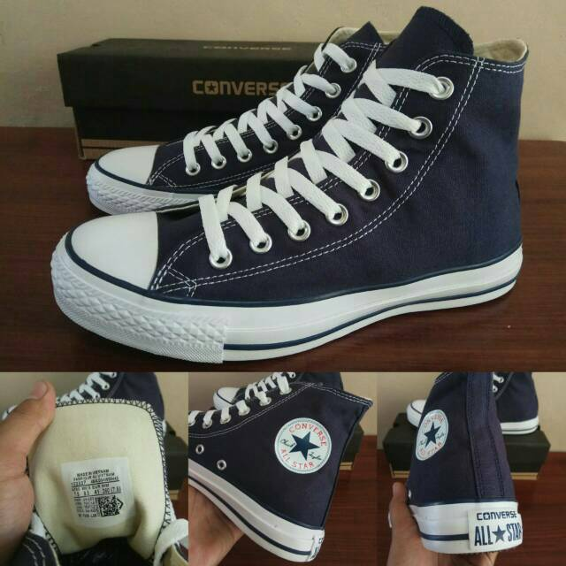 Sepatu Converse CT All Star Basic Dress Blue High - Original PREMIUM - Made  In Vietnam c945febb8a