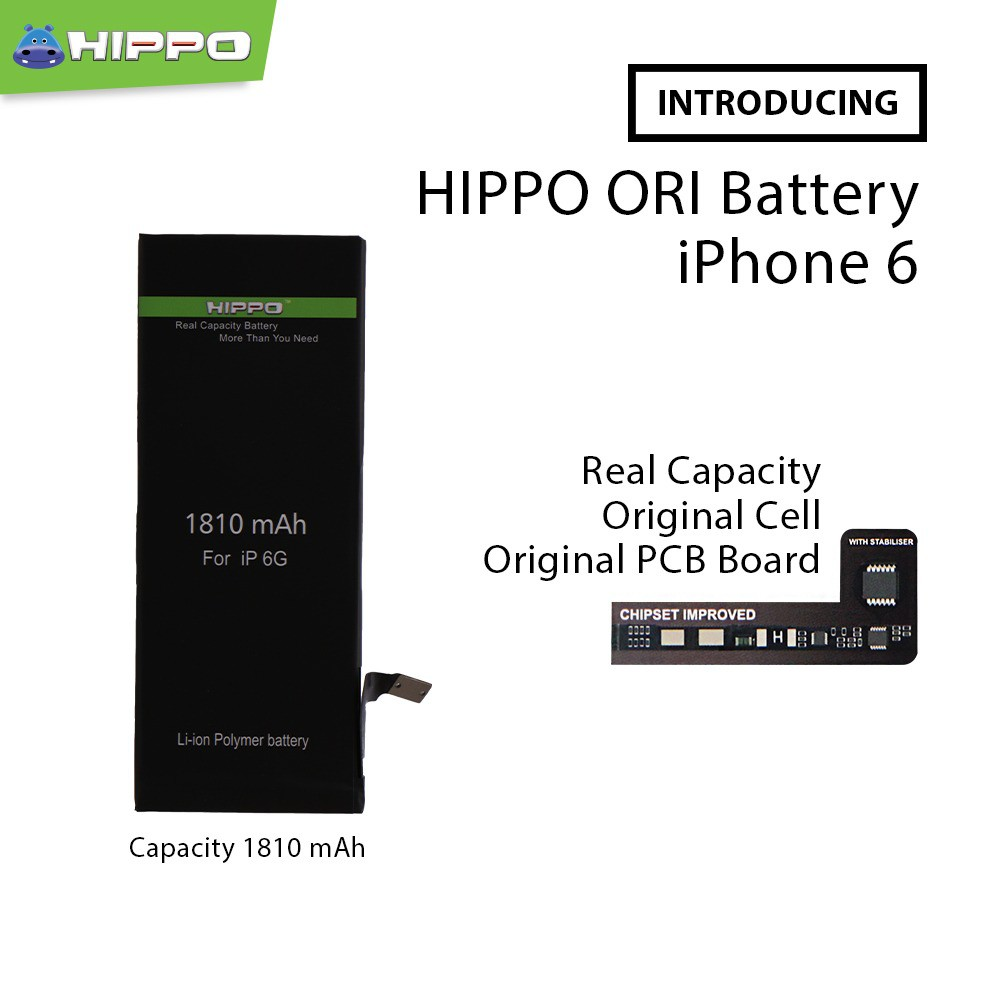 Hippo Baterai Iphone 6 Plus   6+ 2915mAh Original Cell Quality ... 4bb8a4930e