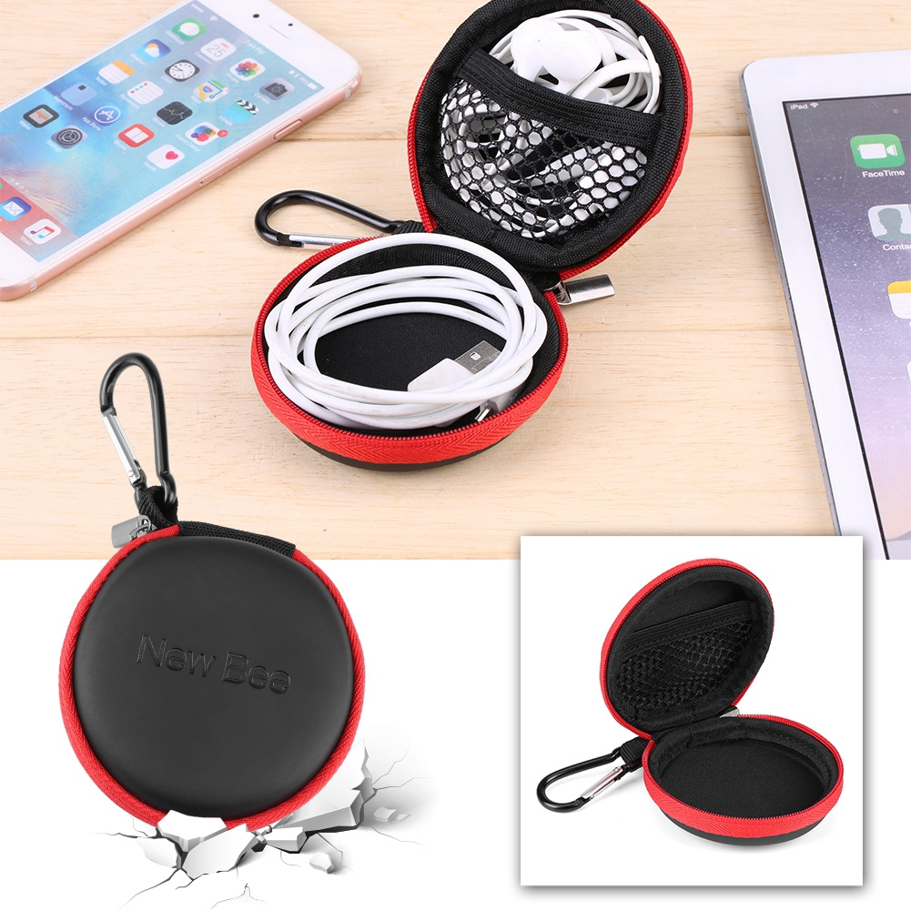 NEW Waterproof Headset Carrying Case Box Earphone Earbud Storage Pouch Bag be