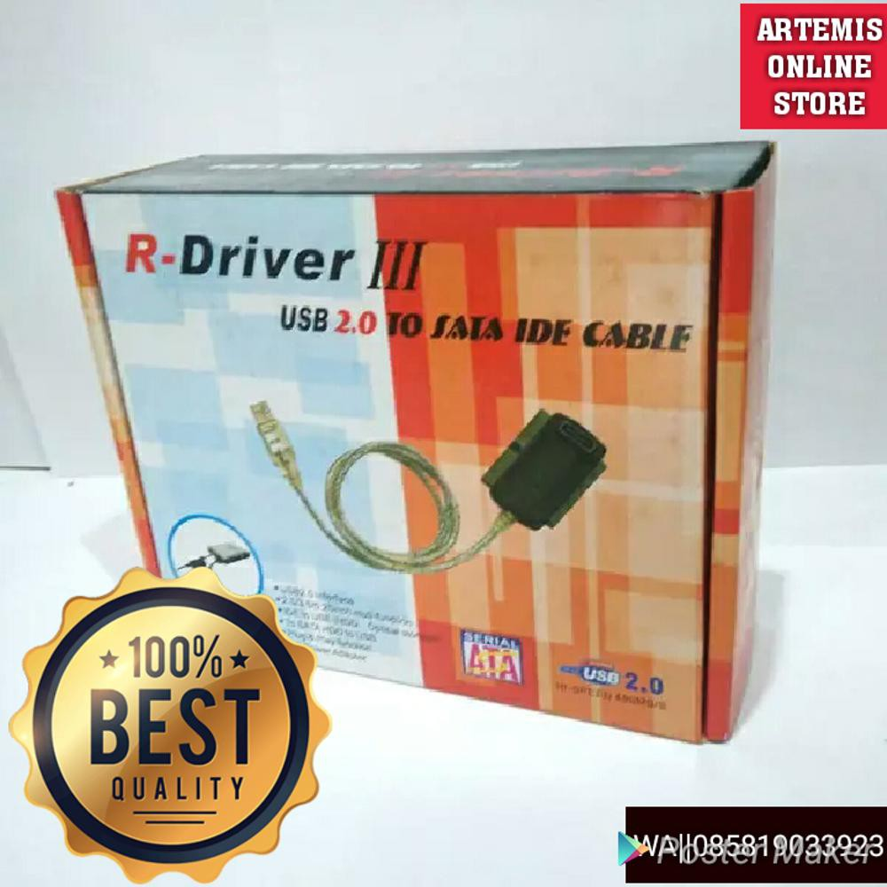 Converter Hardisk CDROM IDE SATA To USB R-DRIVER III 3 in 1 RDRIVER   Shopee Indonesia