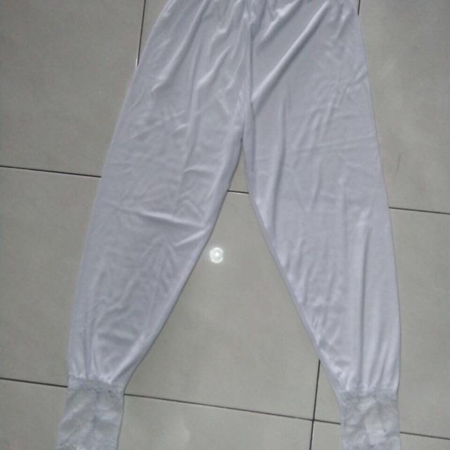 Dalaman Celana Leging Renda Putih Celana Leging Brukat Shopee Indonesia