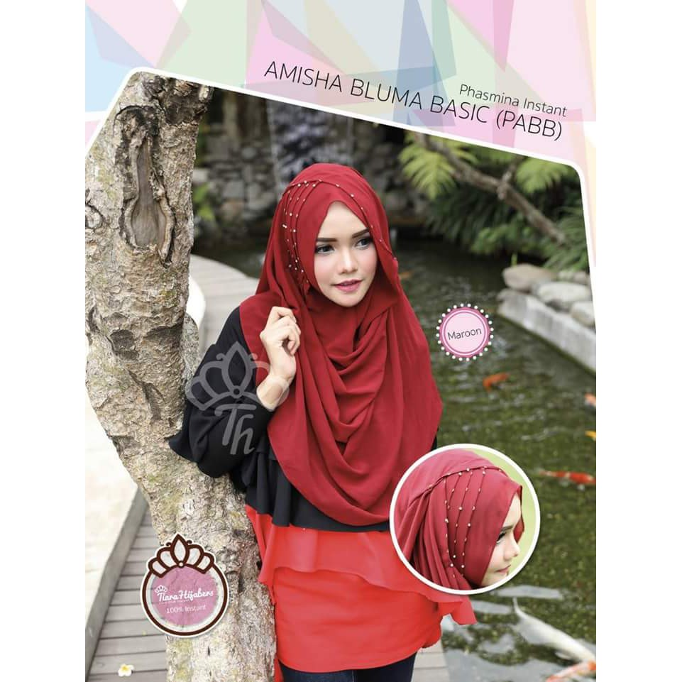 Pashmina Instant Queen Cantika Pqc Ori Tiara Hijab Shopee Indonesia Hijabers