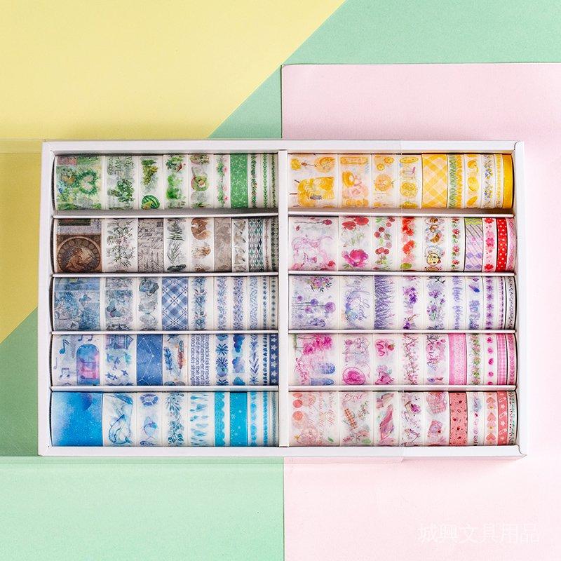 100 Roll Stiker Kertas / Selotip Washi Untuk Handbook