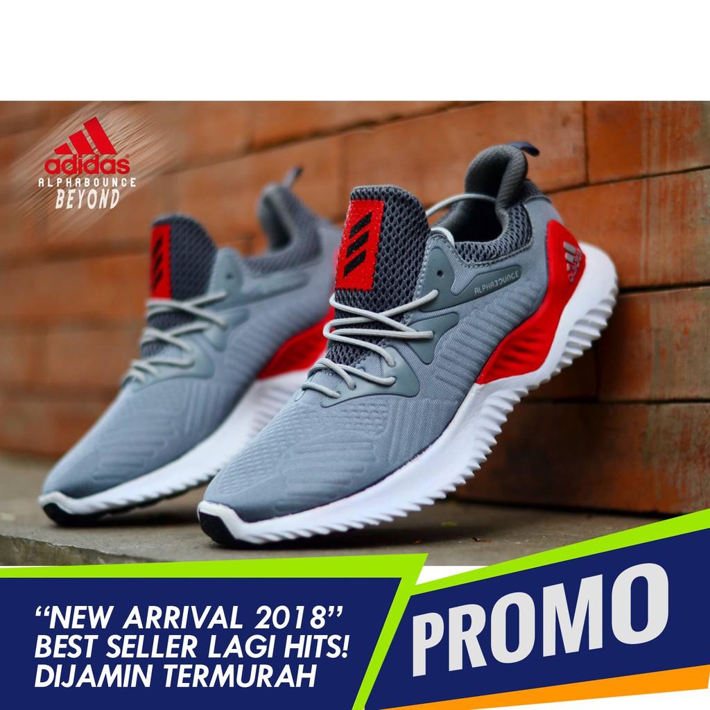 Sepatu Nike Airmax Zoom Dual Colour Olahraga Running Shoes  Adidas Sneakers Alpha Bounce Sport Pria Kasual Murah Shopee Indonesia
