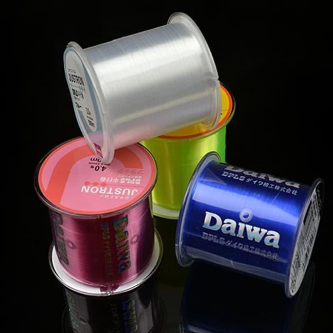 Original Daiwa 500M Senar Pancing Fishing Line Monofilament Nylon Merah, Biru, Putih, Hijau