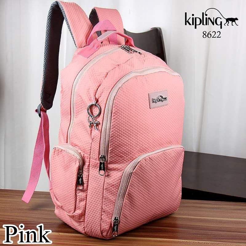 Tas Ransel Besar Kipling Evdo pink bear 010  c62717db4b