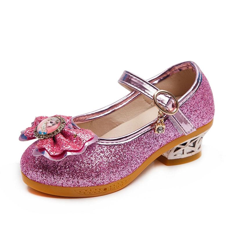 Anak Anak Kecil Sepatu Kulit Gadis High Heels 2020 Musim Semi Versi Korea Baru Dari Sepatu Putri Bus Shopee Indonesia