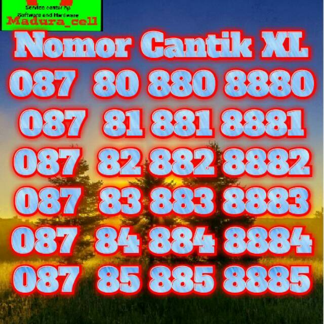 Nomor Cantik XL AXIATA 087 720 730 740 Nomor urut ratusan naik super cantik Hoky |