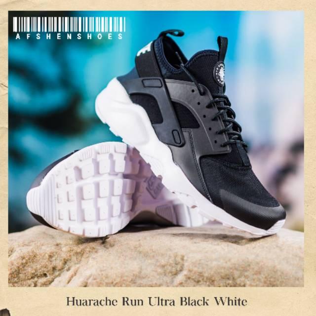 Sepatu Running Pria Nike Huarache Run Ultra Black White BNIB