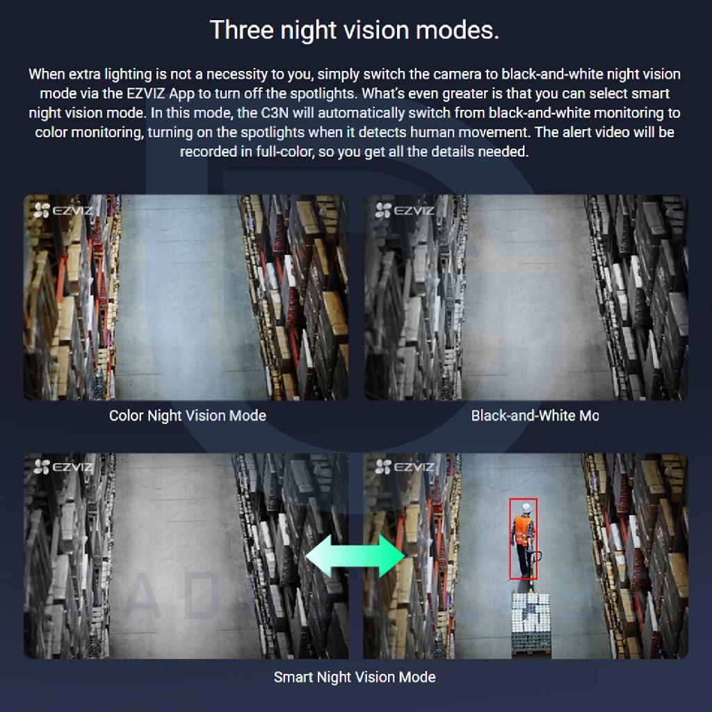IP Camera EZVIZ C3N 1080p CCTV Outdoor Waterproof Colour Night Vision |  Shopee Indonesia