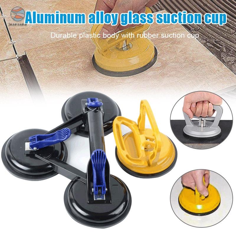 2 PCS Premium Quality Dual Suction Cup Aluminium Glass Lifter Sucker Pad Carrying Grabbing Tile Puller Gripper Orange