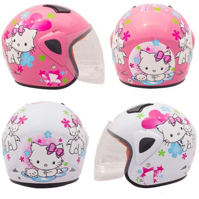 [Helm Anak] WTO Helmet Kids Pet - Gundam 3 - Merah   Shopee Indonesia