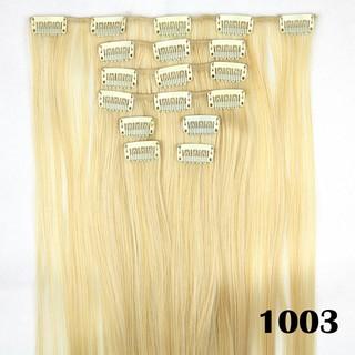 Hair Extension Perpanjangan Rambut Model Klip Clip Wigs Straight Lurus 60 Cm .